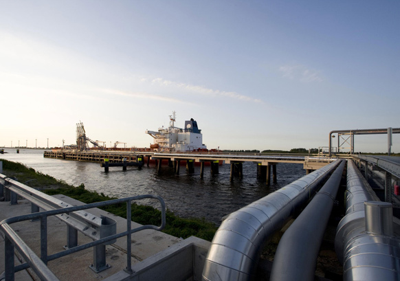 VTTI's ETT Rotterdam terminal in The Netherlands has 28 tanks and specializes in fuel oil and middle distillates. Source: VTTI Energy Partners