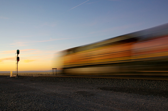 Completed in 2011, BNSF has high speed train service in Abo Canyon in New Mexico. Source: BNSF Railway