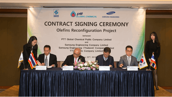 Samsung Wins Contract for Thailand Olefins Project