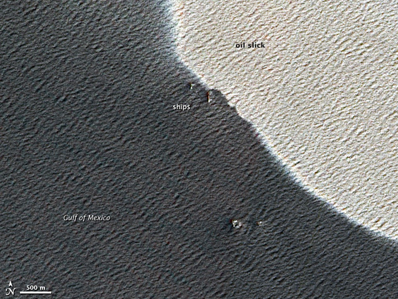 Satellite View of Edge of Macondo Oil Slick