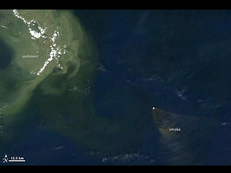 Smoke from Deepwater Horizon