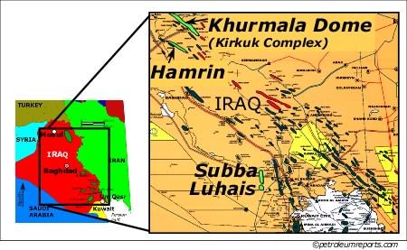 Khurmala-Hamrin-Subba-Luhais Fields, Iraq