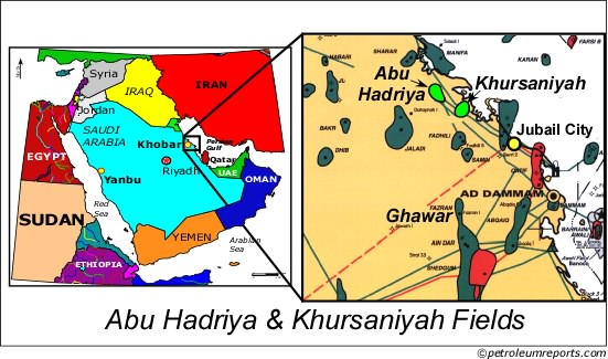 Abu Hadriya & Khursaniyah Fields, Saudi Arabia