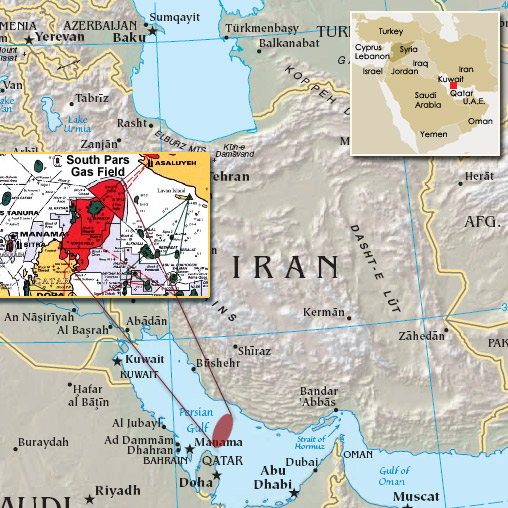 Iran Accelerates Development Of Its Field In The Persian Gulf - Pars map