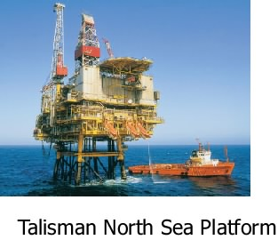 Talisman North Sea Platform