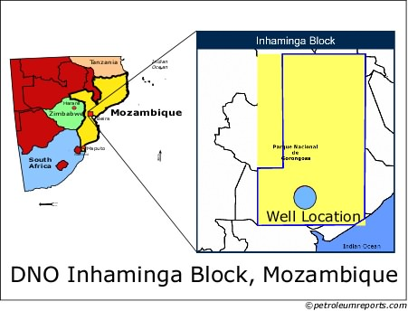DNO Inhaminga Block, Mozambique