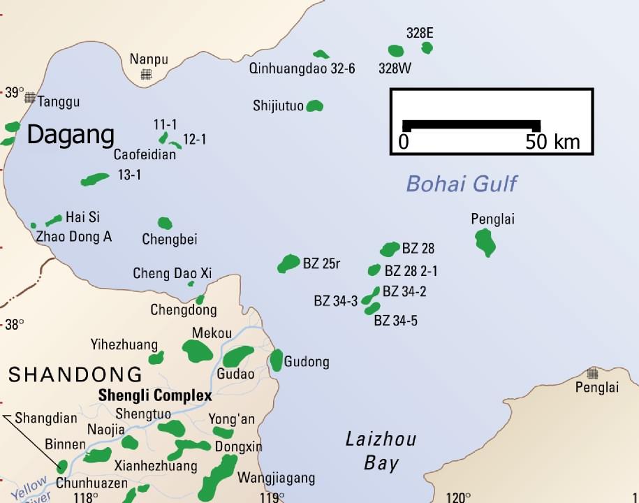 Dagang Field, Bohai Bay