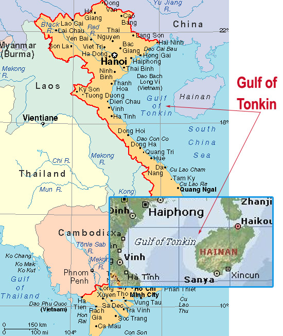 the gulf of tonkin President johnson used an alleged attack by north vietnamese gun boats on us destroyers in the gulf of tonkin to greatly escalate the american war in vietn.