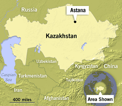 Map of Kazakhstan