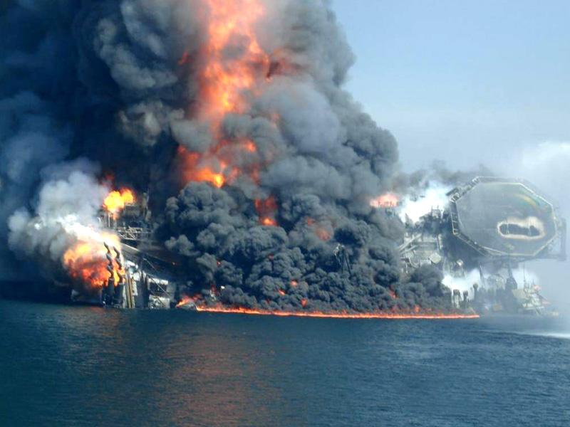 Deepwater Horizon Sinking on April 22