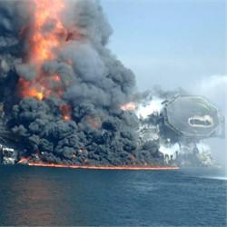 Deepwater Horizon Sinking (Apr 22)