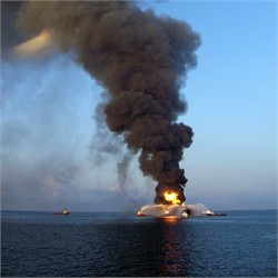 Deepwater Horizon on Fire (Apr 21)
