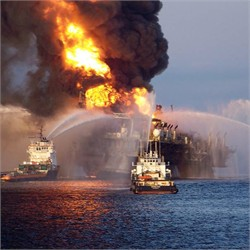 Deepwater Horizon Fire (Apr 21)