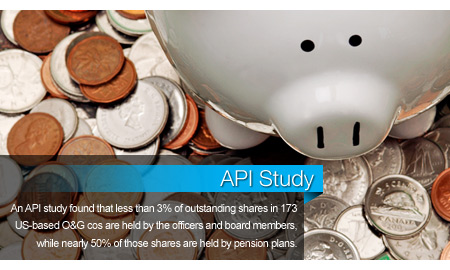 API: Pensions, Individual Investors Hold Majority Stake in O&G Companies