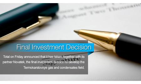 Final Investment Decision Made for Termokarstovoye