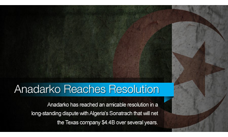 Anadarko Reaches Resolution With Algeria's Sonatrach