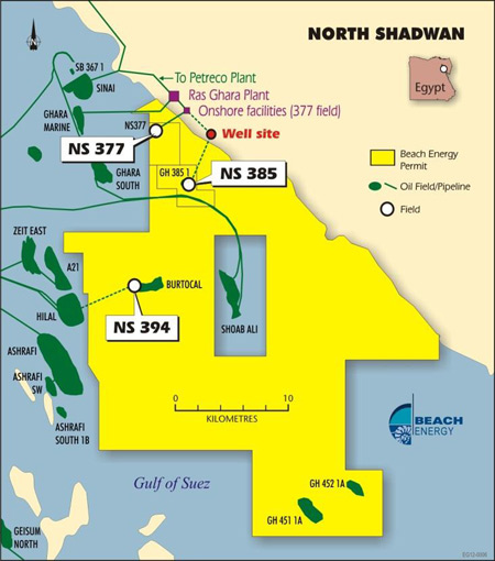 Beach Sees 1st Oil from North Shadwan Concession