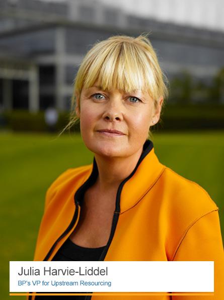 Julia Harvie-Liddel, BP's VP for Upstream Resourcing