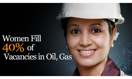Women Fill 40% of Vacancies in Oil, Gas