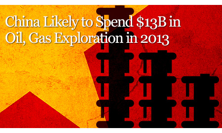 China Likely to Spend $13B in Oil, Gas Exploration in 2013