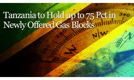 Tanzania to Hold up to 75 Pct in Newly Offered Gas Blocks