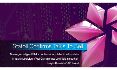 Statoil Confirms Talks To Sell Stake In Iraqi Oil Field
