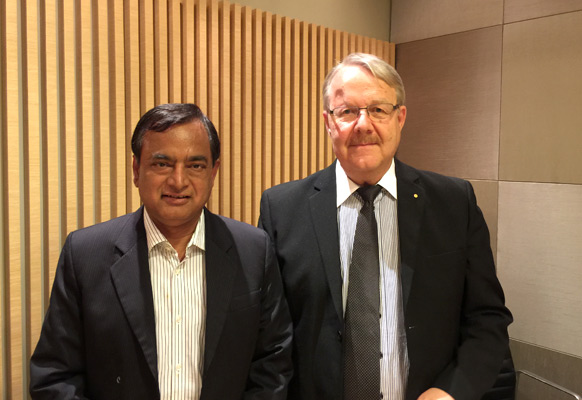 Dr. Rabi Narayan Bastia, Rex's Geological Adviser (left) and Hans Lidgren, Rex's founder (right)