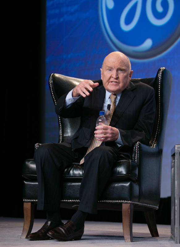 Former GE Chairman and CEO Jack Welch shared strategies he used during his 20-year tenure at the company at the KPMG Global Energy Conference.