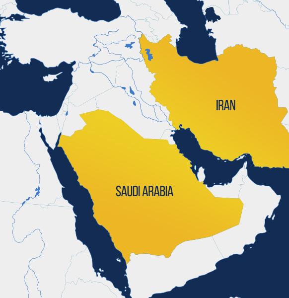 Saudi Arabia to Iran