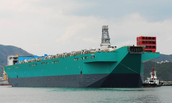 PFLNG 1 Hull Launch at DSME yard in South Korea