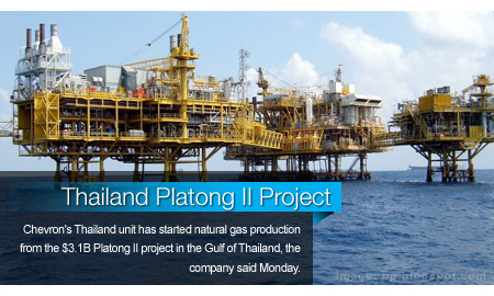 Chevron Starts Gas Output at $3.1B Thailand Platong II Project