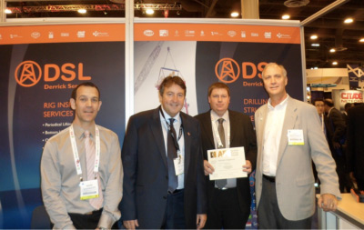 DSL receiving their API Approved Training Centre Award at OTC 2012 this week.