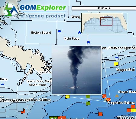 Deepwater Horizon Sinks Offshore Louisiana