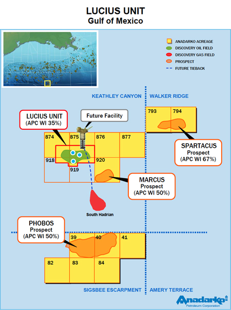 Lucius Unit - Gulf of Mexico Map