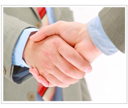 Hand shake, merger