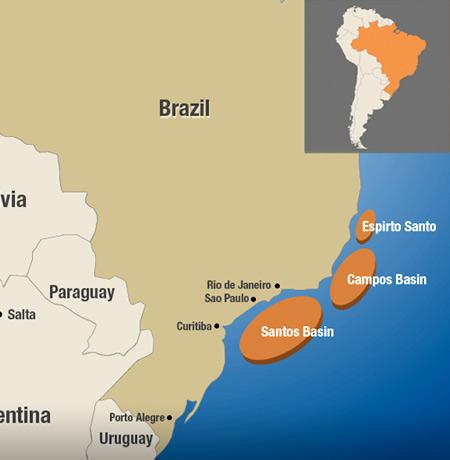 Santos Basin, Campos Basin, Espirito Santo