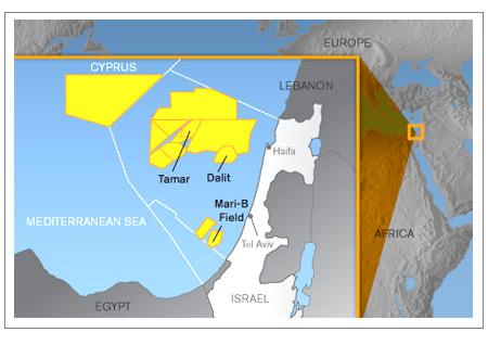 Noble-operated Mari-B field offshore Ashkelon