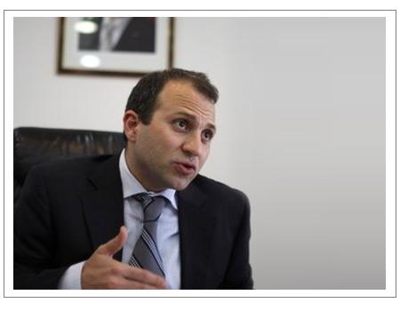Lebanese Energy Minister Gebran Bassil