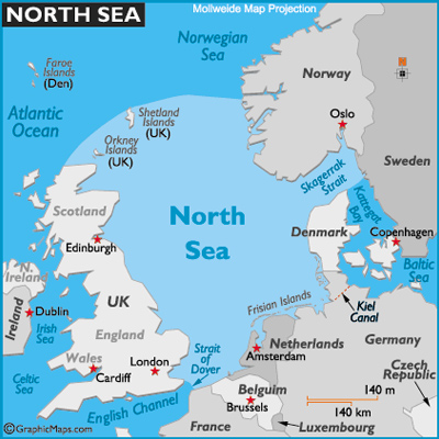 North Sea Map