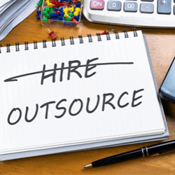 What's driving demand for more outsourced work in oil and gas?