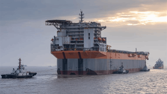SBM's First Completed Fast4Ward FPSO Hull Docks in Singapore