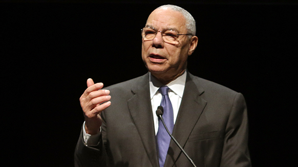 Colin Powell Tells NAPE Audience of Ways to Decentralize Energy
