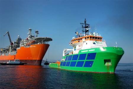 BP's Skarv FPSO on tow to Norway