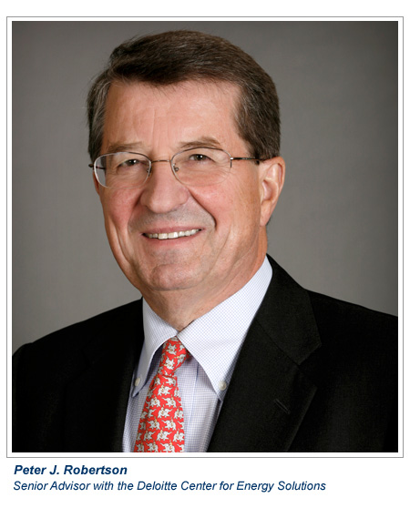Peter J. Robertson, independent senior advisor with the Deloitte Center for Energy Solutions and a former Chevron Corp. vice president