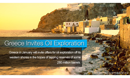 Greece to Invite Oil Exploration in January
