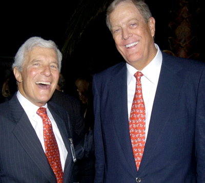 Charles Koch (left) and his brother David