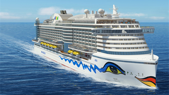 Carnival AIDA LNG-fueled ship rendering