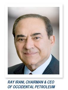 Ray Irani, Chairman & CEO of Occidental Petroleum