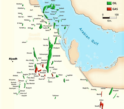 Oil and Gas Fields of Saudi Arabia