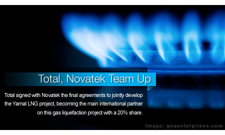 Total, Novatek Team Up for Yamal LNG Development